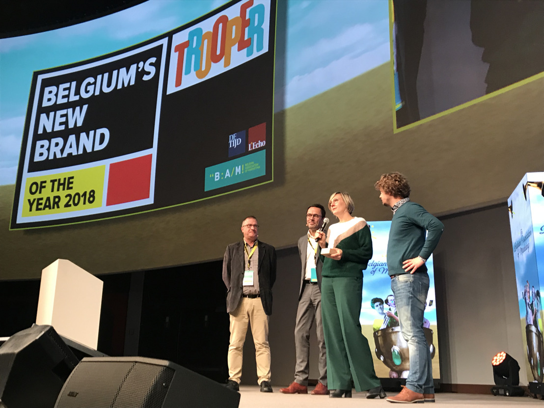 Trooper is Belgium's new brand of the year 2018!