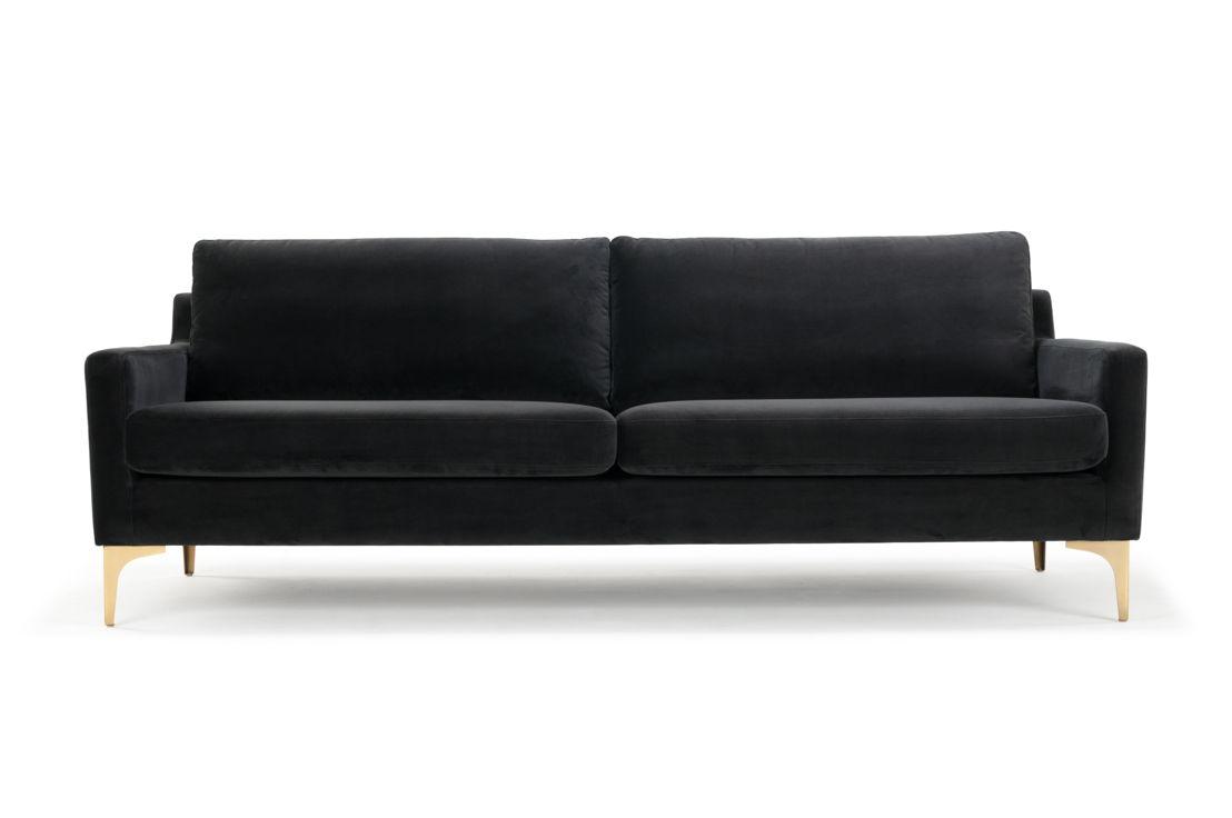 Astha 3-seater - Velour Dark Grey