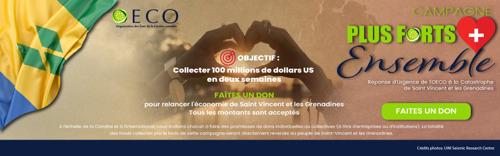 Solidarité envers Saint-Vincent et les Grenadines : Plus forts ensemble - l'OECS lance une campagne d'appel aux dons