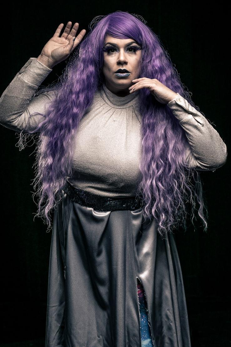 "Gina Rickicki as ""Cosmic Stranger/Italian Mama"" (photo by Daniel Parvis)"