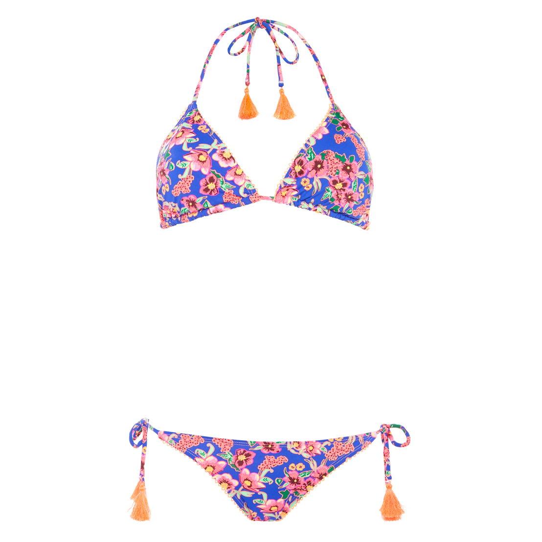 Floral tassel bikini top €7, pant €5,