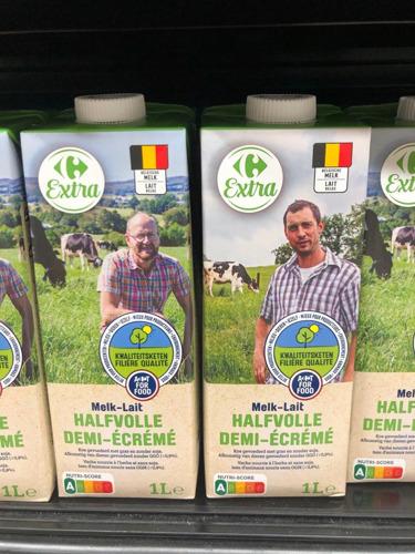 3 nouvelles Filières Qualité Carrefour belges : lait demi-écrémé, brie et fromage frais