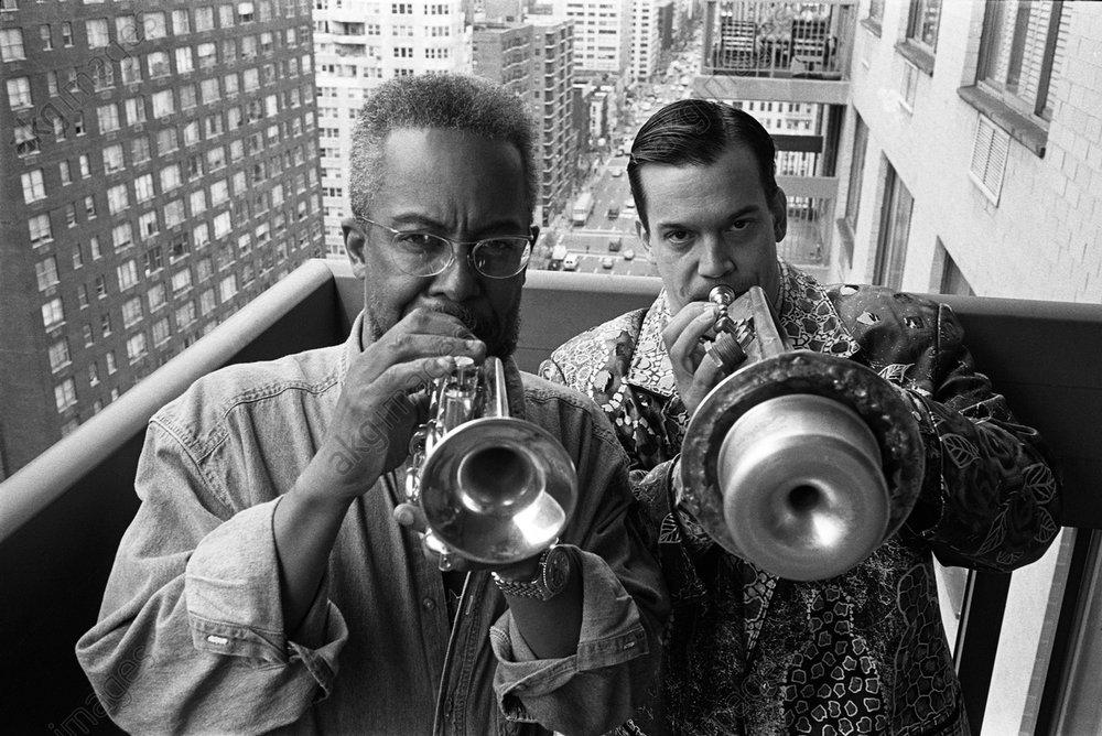 Lester Bowie and Mac Gollehon in Manhattan<br/>AKG3543069