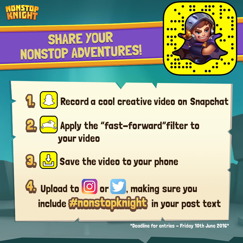 How to enter our Nonstop Knight Snapchat competition!
