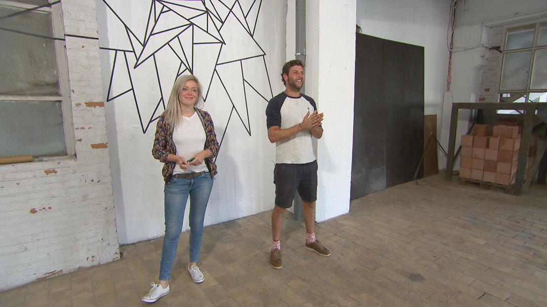 Muralexperte Katrien Vanderlinden daagt de families uit om hun muren in de verf te zetten
