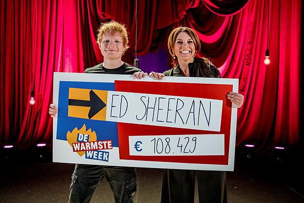 Ed Sheeran & Siska Schoeters © VRT