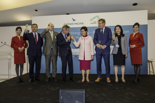 Cathay Pacific celebrates Hong Kong – Brussels connection