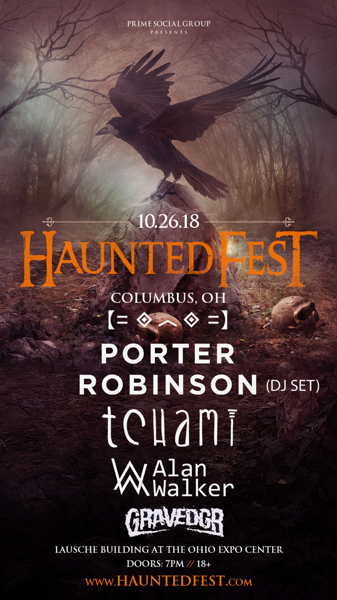Tchami + Alan Walker To Stack the Bill for Ohio's + Indiana's Largest Halloween Party, Haunted Fest on October 26th