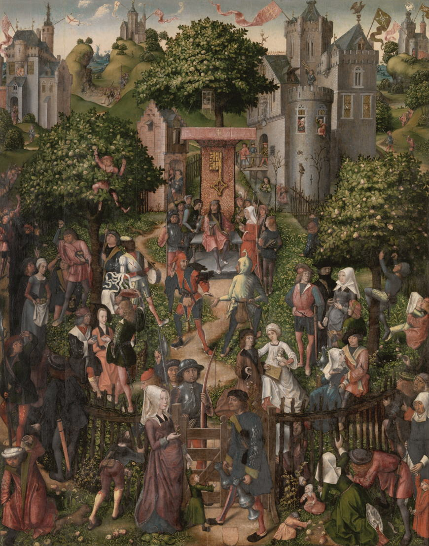 © Maître de Francfort, Réunion utopiste de la guilde des archers (la Fête des Archers), 1493. Anvers, Le Musée Royal des Beaux-Arts (Lukas - Art in Flanders vzw).