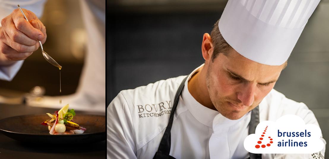 Brussels Airlines et le Chef Tim Boury renouvellent leur collaboration pour 2021 pour proposer de la cuisine belge sur les vols intercontinentaux