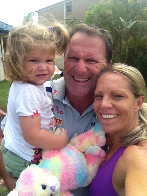 Australian Story<br/>Grant Edwards with his wife and daughter.