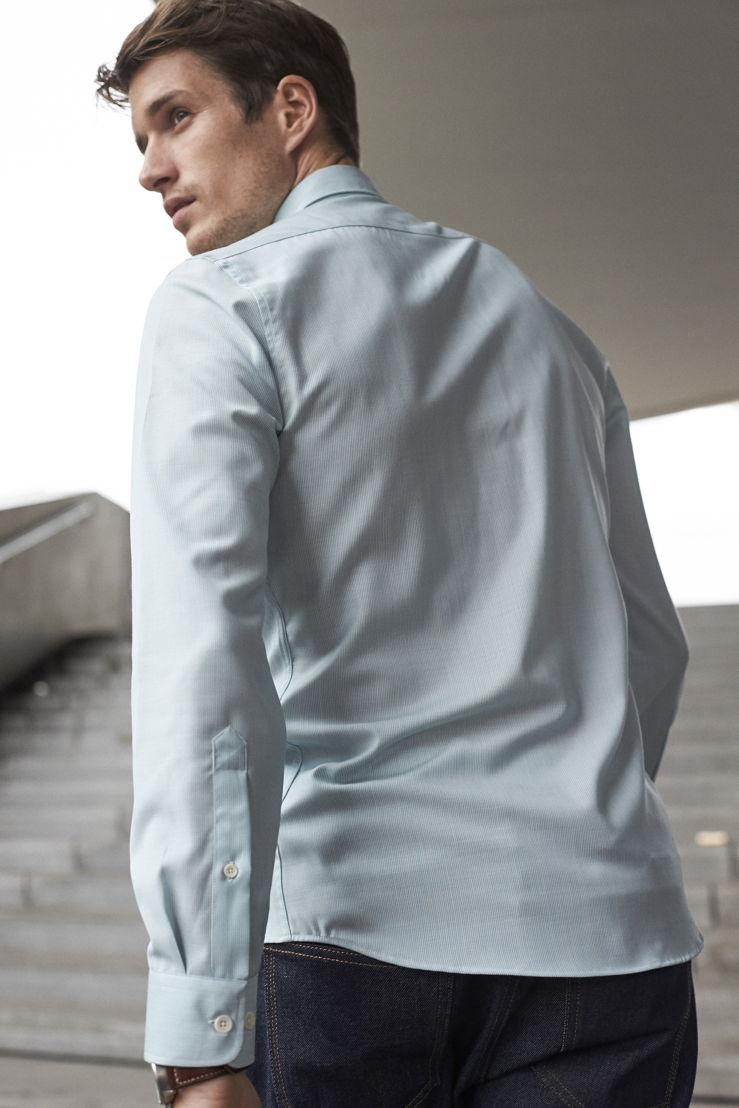 Wolk_Alex Shirt (Merino wool)_Aqua hairline stripe_back_€145_02.jpg