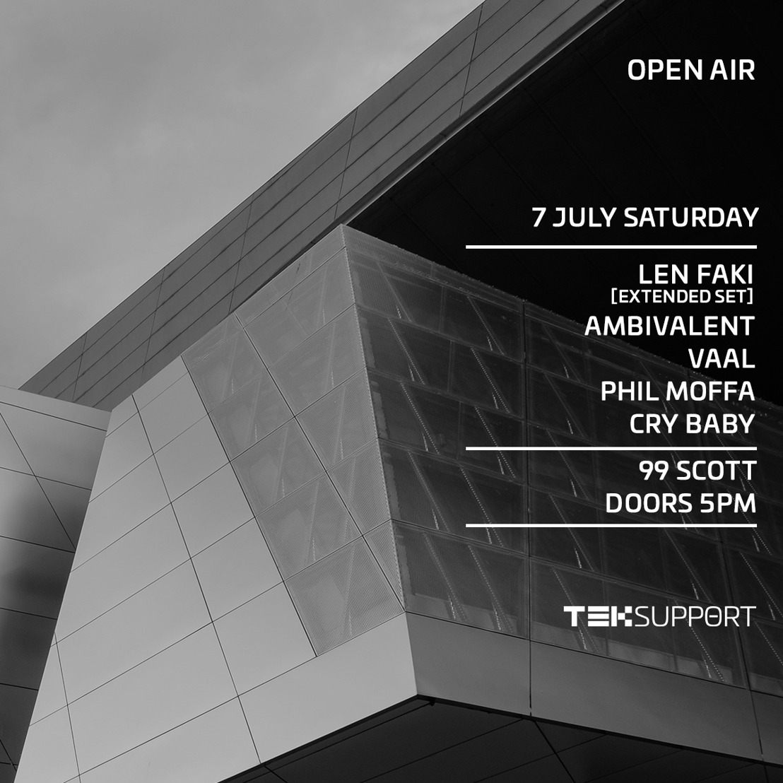 Teksupport Announce July 7 Day Into Night Open Air Event with Len Faki