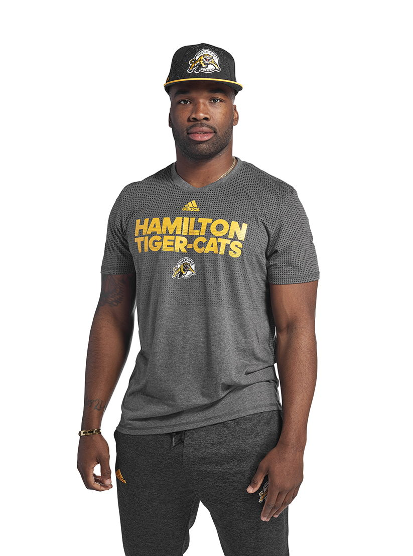 Hamilton Tiger-Cats adidas team collection (Simoni Lawrence)
