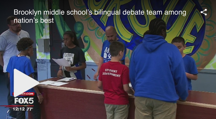 Brooklyn middle school's bilingual debate team among nation's best