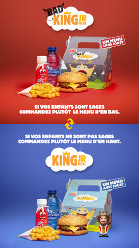 BURGER KING® vient à la rescousse des parents avec le Bad King Jr.