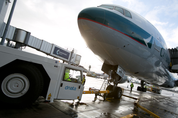 dnata, one of the world's largest air services providers, welcomed Cathay Pacific's inaugural flight at Manchester International Airport on 08 December 2014. The company will provide ground handling services for the airline's four weekly flights between Manchester and Hong Kong.