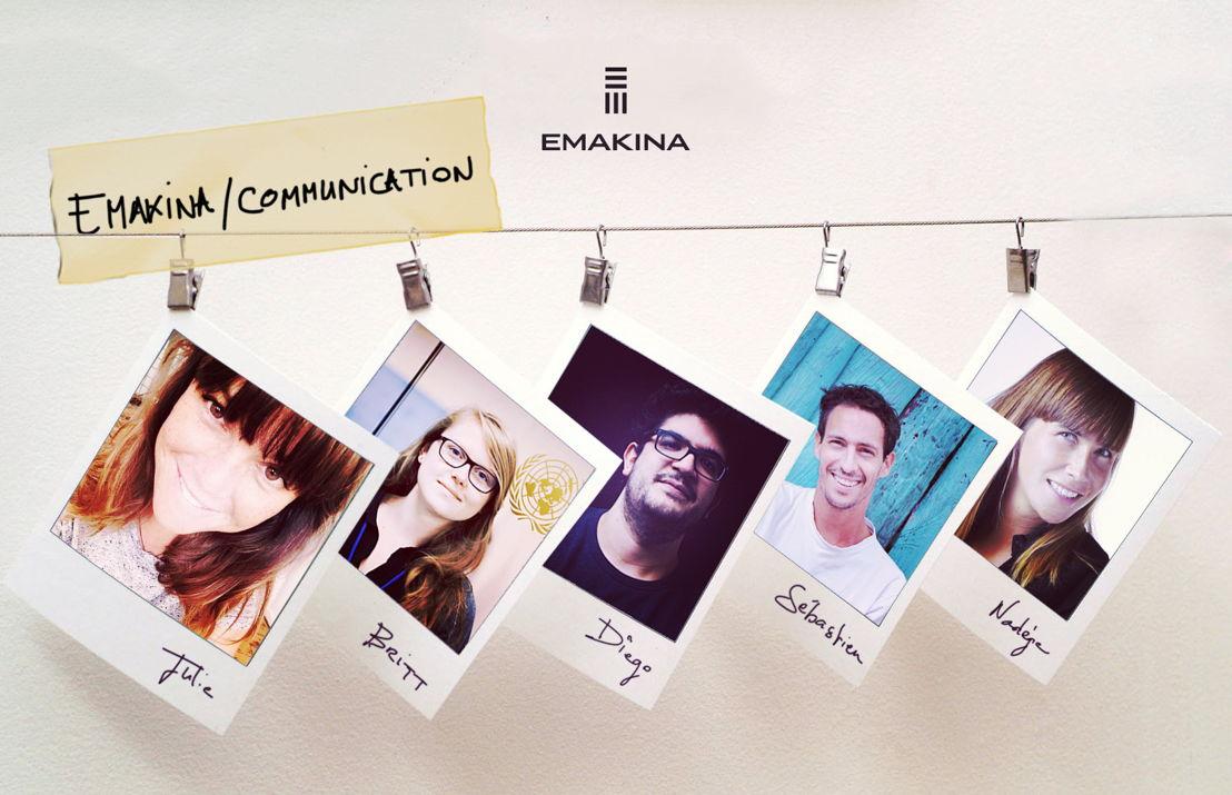 5 nouveaux talents chez Emakina / Communication