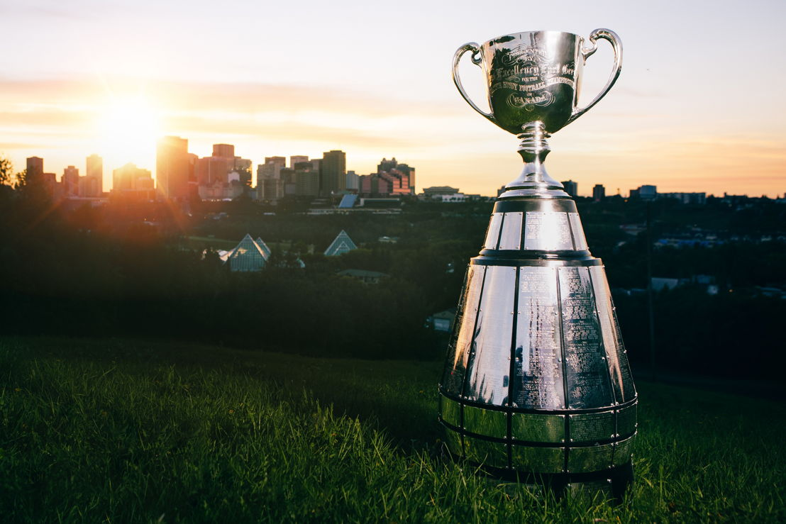 Edmonton sera l'hôte de la 106e Coupe Grey, présentée par Shaw. Crédit photo : Cooper & O'Hara Photography/LCF.