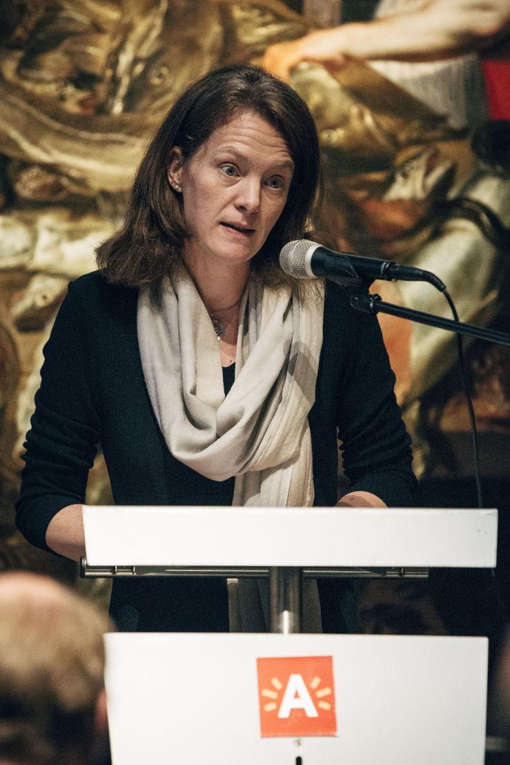 Caroline Bastiaens, schepen voor cultuur Antwerpen. Photo: Joris Casaer