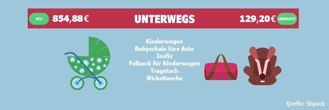 Bei Marken-Kinderwägen und Babyschalen fürs Auto lässt sich enorm viel sparen.