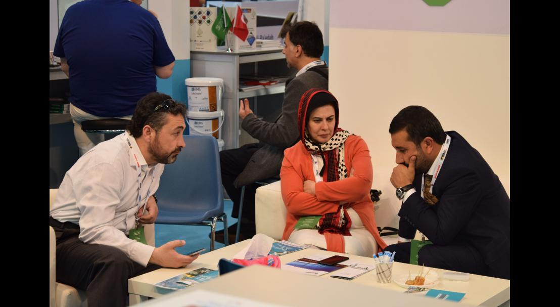 Business meeting at The Big 5 Saudi 2017