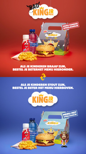 BURGER KING® snelt ouders te hulp met de Bad King Jr