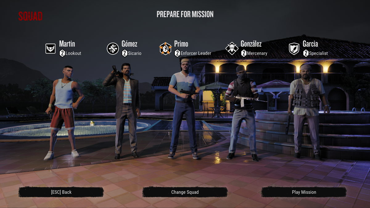 Narcos: Rise of the Cartels- choose squad