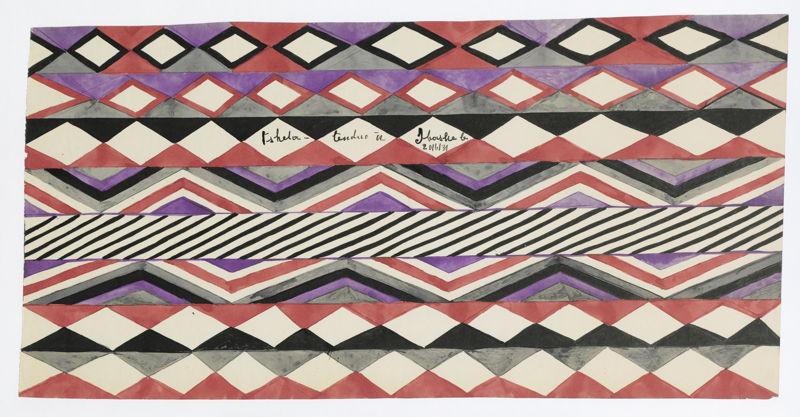 Tshela Tendu, Zonder titel, ca. 1930, SV 72815-20, Prentenkabinet, Koninklijke Bibliotheek van België