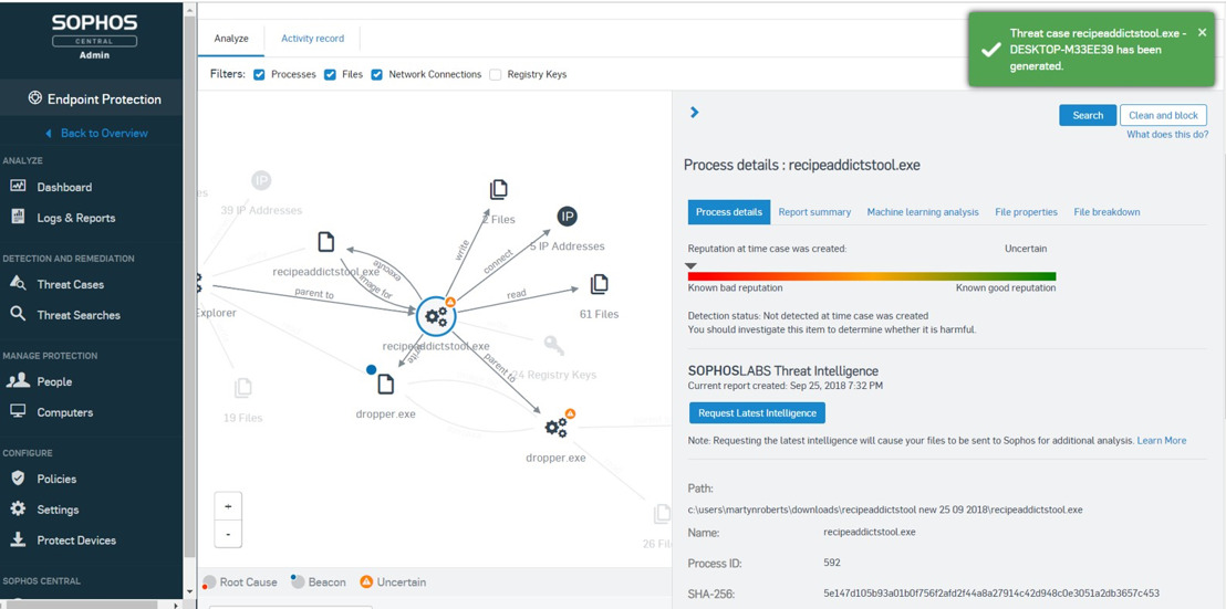 Sophos voegt Endpoint Detection and Response (EDR) toe aan Intercept X Advanced