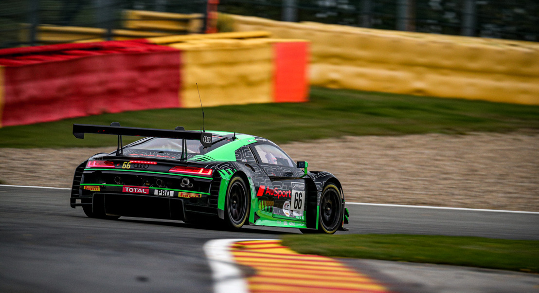 Audi op het podium van de Total 24 Hours of Spa