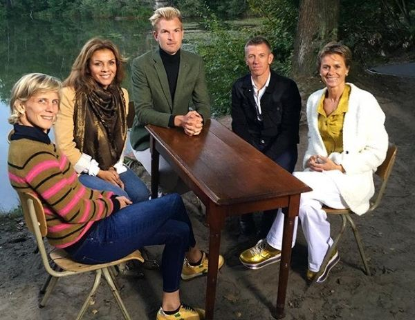 Ann Simons, Leontien van Moorsel, Ruben Van Gucht, Filip Meirhaeghe, Gella Vandecaveye in het Fort van Brasschaat
