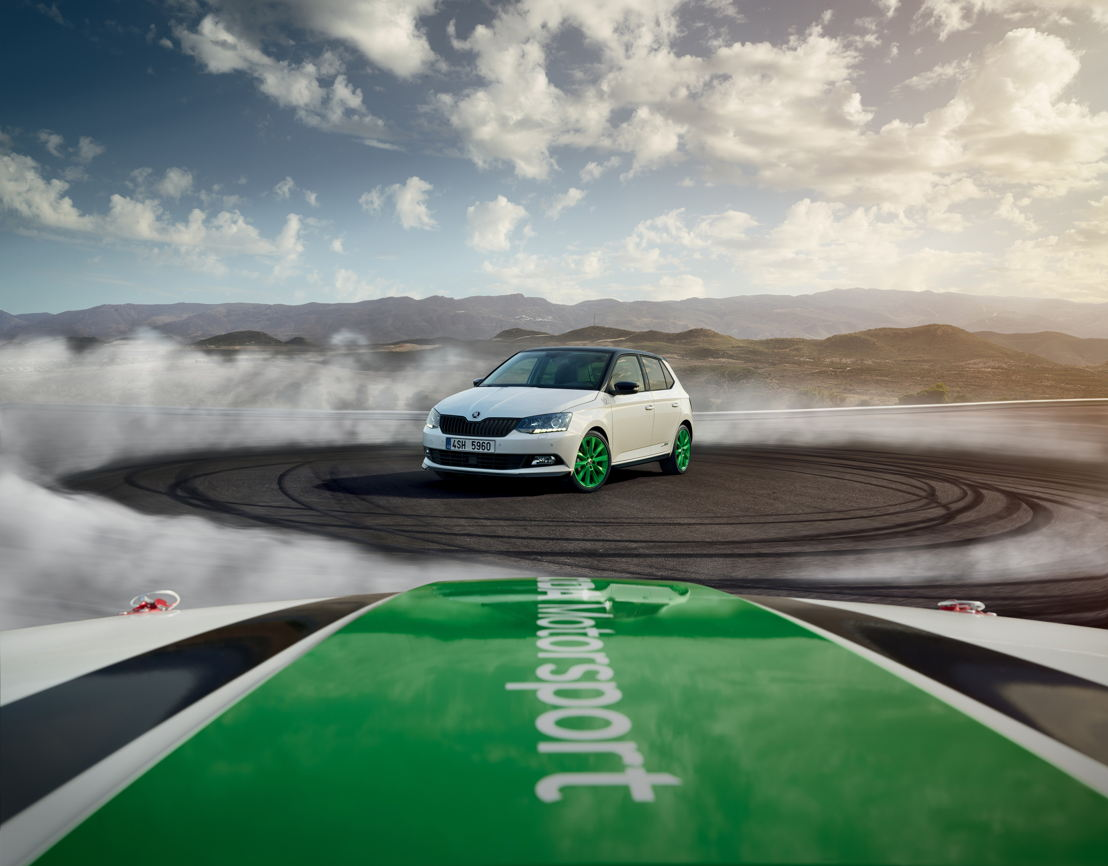 A limited number of 1,300 cars will be available in 21 selected markets. The bright green 17-inch alloy wheels is a reference to the ŠKODA FABIA R5, the most successful car in its category.