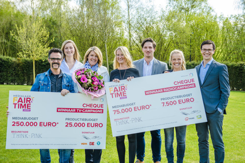 Think-Pink wint de Medialaan Fairtime Award