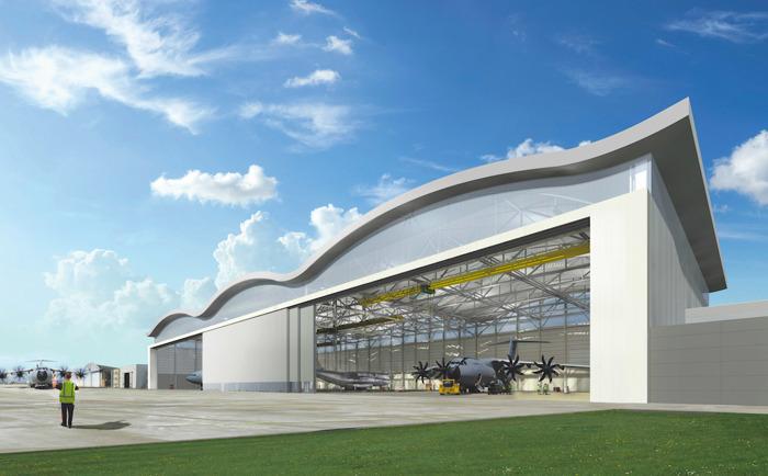 Un hangar moderne pour les nouveaux avions de transport du ministère de la Défense à Melsbroek