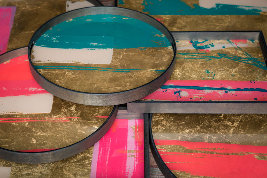 Notre Monde Bright Abstract tray collection_detail