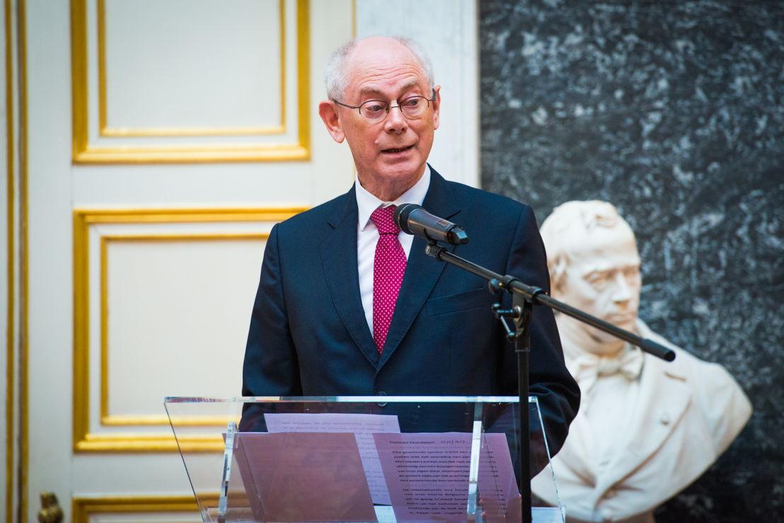 Herman Van Rompuy, Président du conseil d'administration de la Fondation Francqui ©Dann