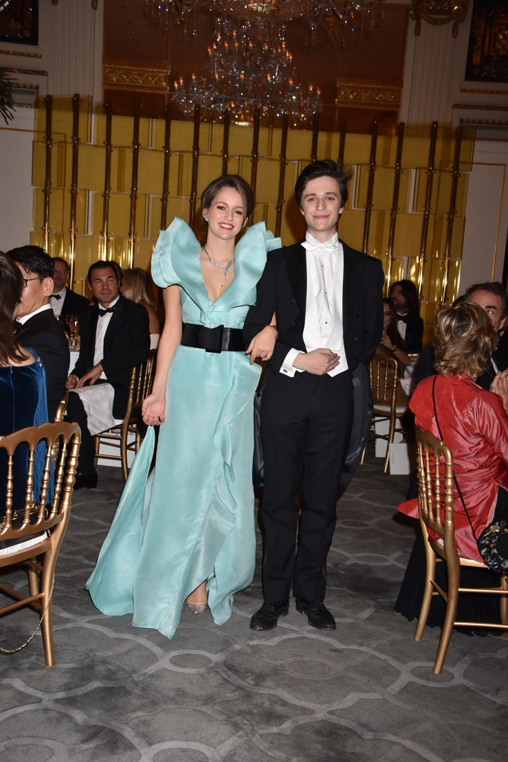 Princess Emilia von Auersperg-Breunner (in Emanuel Ungaro and jewelry by Payal New York) with her cavalier Count Erik Law de Lauriston, Photo by Jean Luce Huré