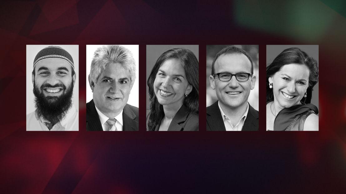 Sheikh Wesam Chakawi, Ken Wyatt, Lisa Singh, Adam Bandt & Tania de Jong