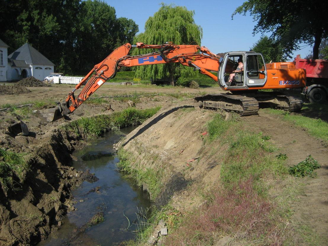 Om een vlotte waterafvoer te  garanderen voert de Provincie regelmatig onderhoudswerken uit.