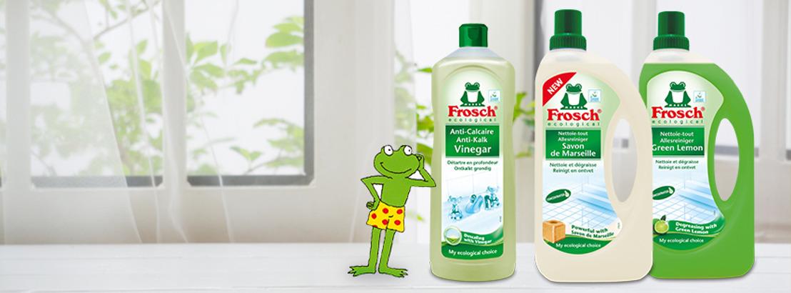 Frosch stelt vijf goede voornemens voor om minder plastic te verbruikenen en beter te recycleren in 2019.