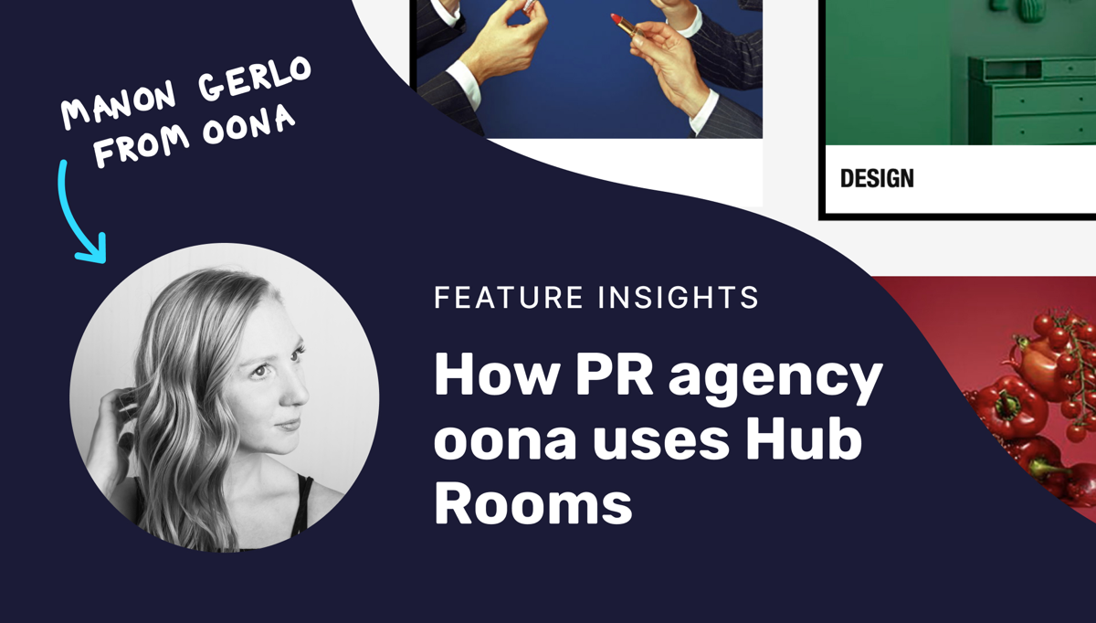 How oona uses hub rooms to organize content