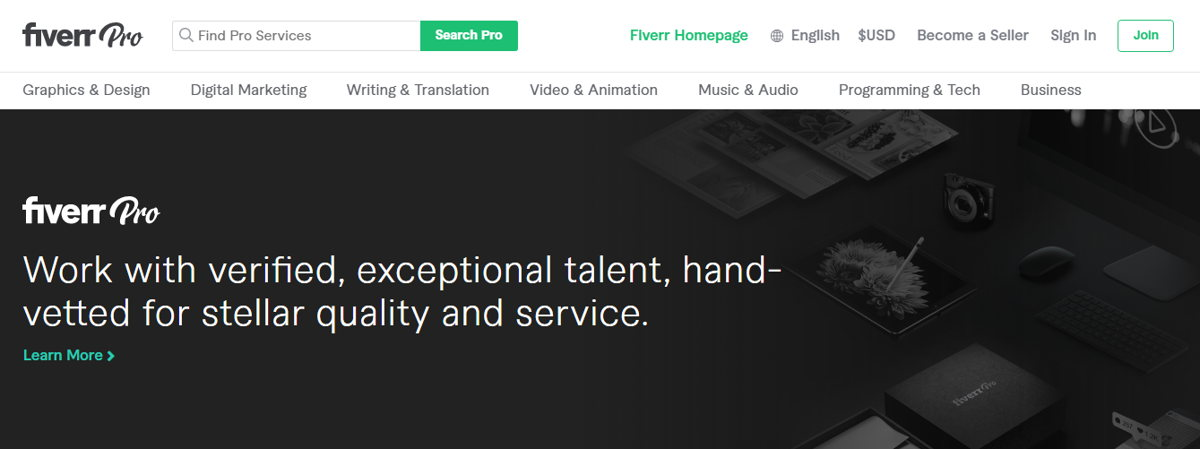 Fiverr started out as a service where freelancers can offer their work for $5. Photo: fiver.com