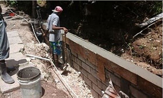 Drainage Reconstruction Works at La Clery, St. Lucia.