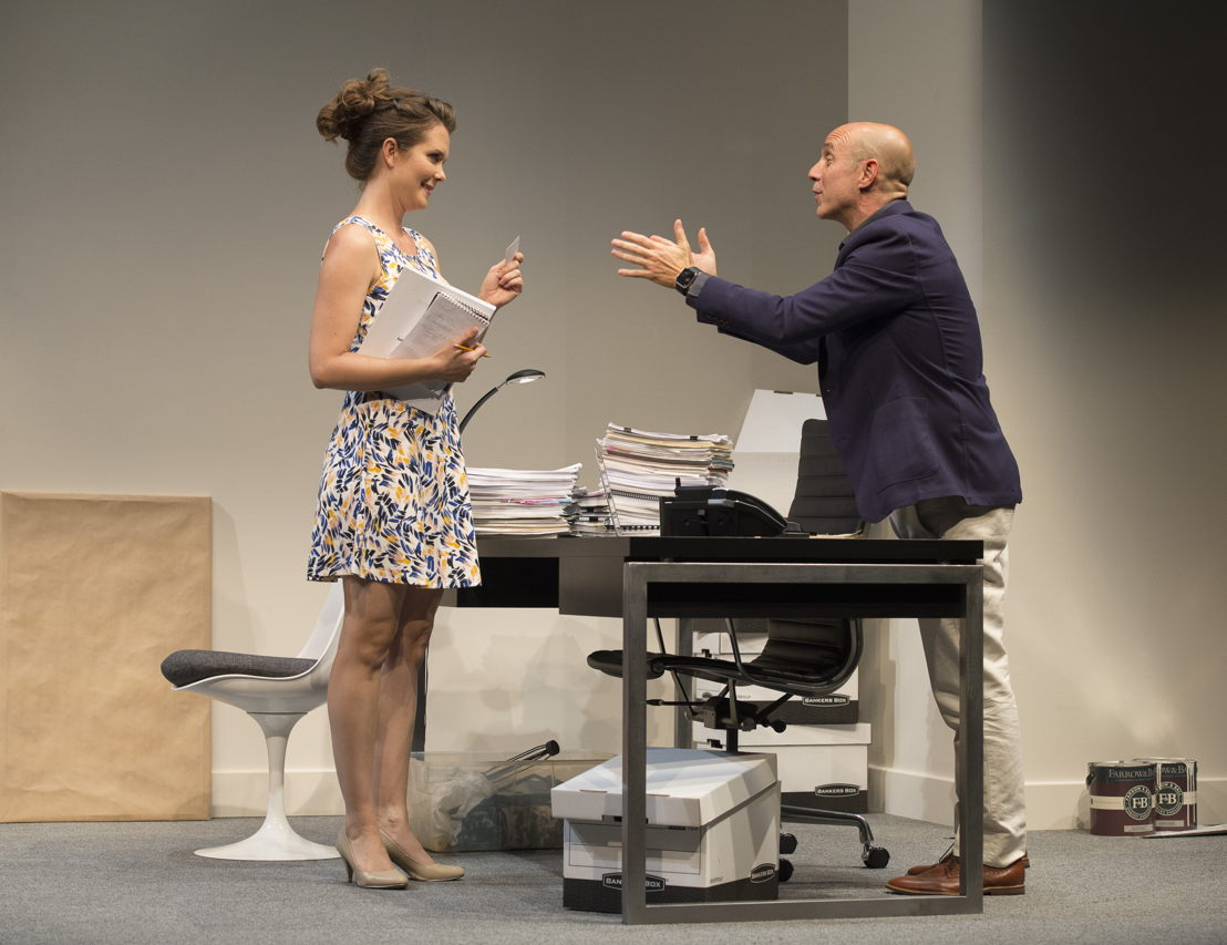 Celine Stubel and Brian Markinson in Speed-the-Plow / Photos by David Cooper