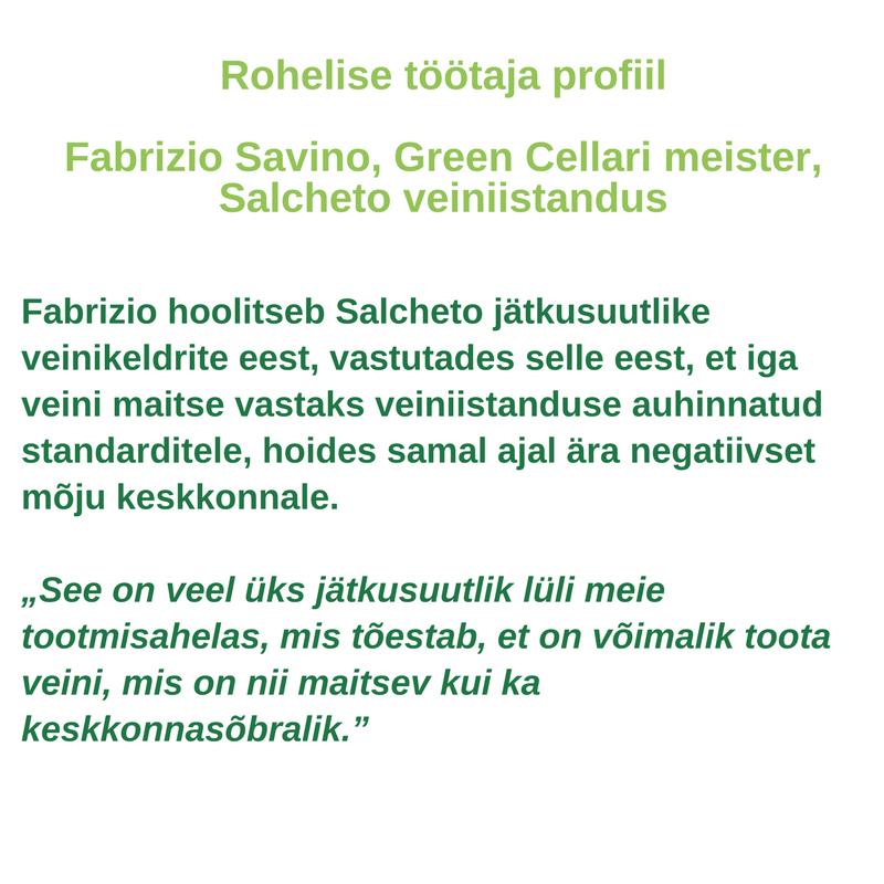 Rohelise töötaja profiil - Fabrizio Savino