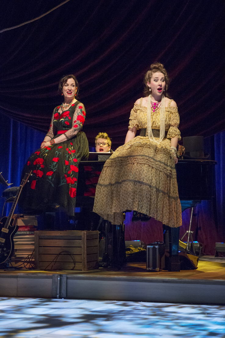 Caitriona Murphy, Veda Hille, and Lauren Jackson in Onegin. Photo by David Cooper. From the 2016 Arts Club Theatre Company premiere production.