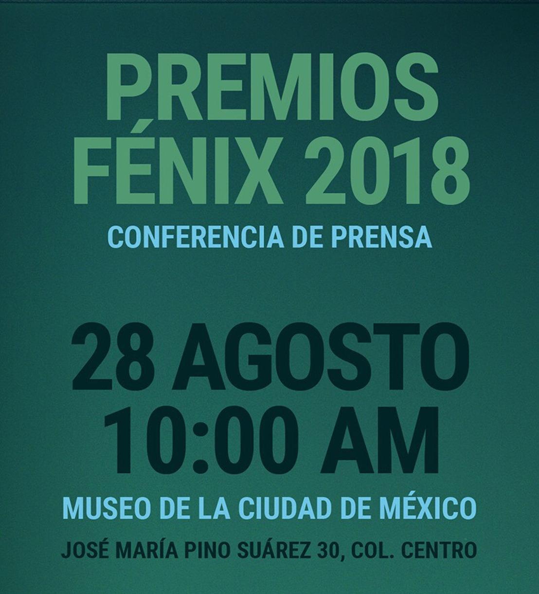 Conferencia de Prensa Premios Fénix