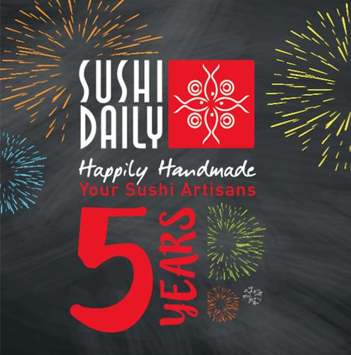 Un anniversaire radieux pour Sushi Daily : 27 millions de sushis vendus par an