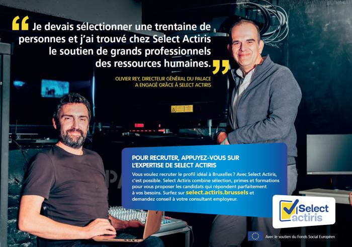 145.000 postes vacants en Belgique ? Employeurs, si c'est le cas, envoyez vos offres à Select Actiris !